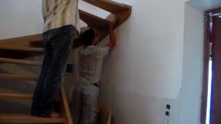 Установка деревянной лестницы с поворотом на 180 градусов(Очередность установки элементов деревянной лестницы с поворотом на 180 градусов. Материал лестницы - дуб,..., 2016-02-16T08:50:43.000Z)