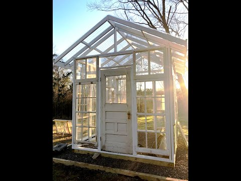 Building A DIY Greenhouse with Old Windows // PART 1