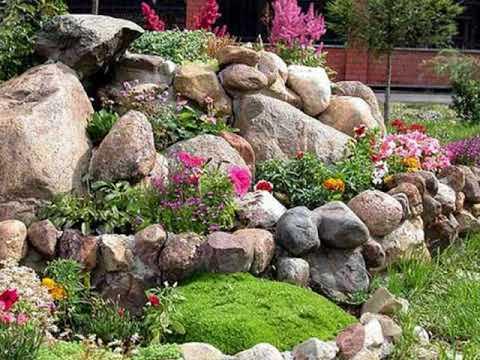 Einen steingarten bauen - YouTube