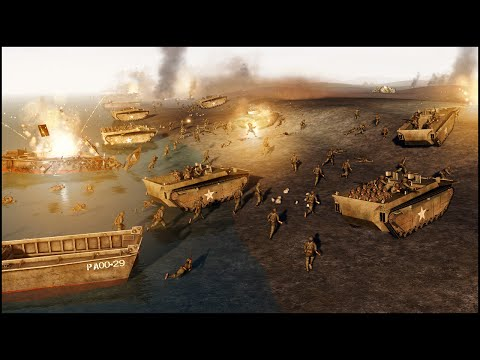 EPIC IWO JIMA BEACH ASSAULT - RobZ Realism Mod Gameplay