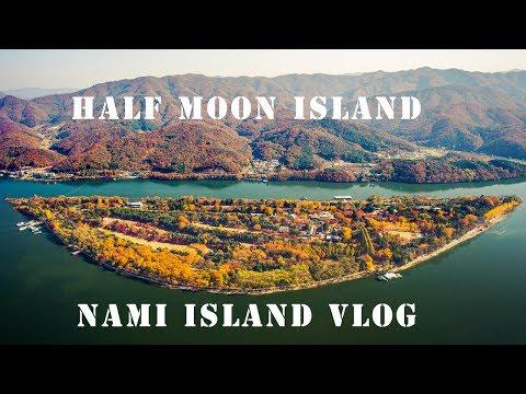 Mersal Pocket drone view of Half Moon Island   Korea travel Vlog   சந்திரன்  தீவு