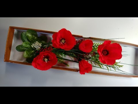 How to make a beautiful and amazing crepe paper poppy flower decoration piece