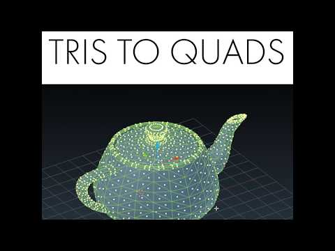 Daily Blender Tip #35 - Convert Tris To Quads With One Shortcut