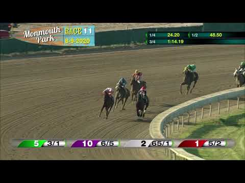 video thumbnail for MONMOUTH PARK 08-09-20 RACE 11