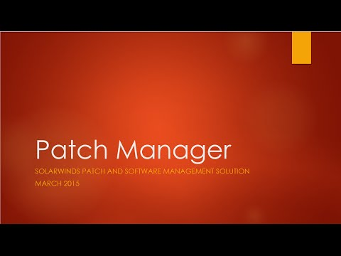 Solarwinds Patch Manager Demo