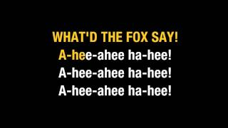 Karaoke Ylvis The Fox What Does The Fox Say
