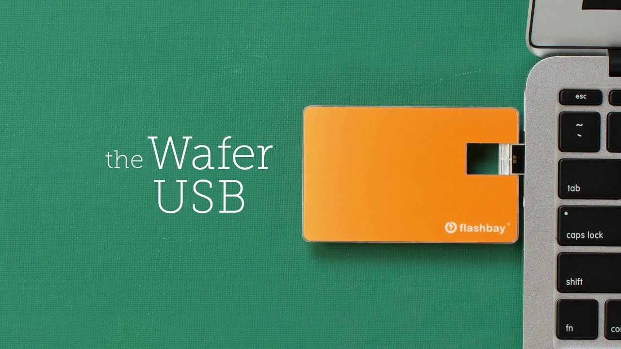 One of the thinnest USB Cards in the world - The Wafer USB - YouTube