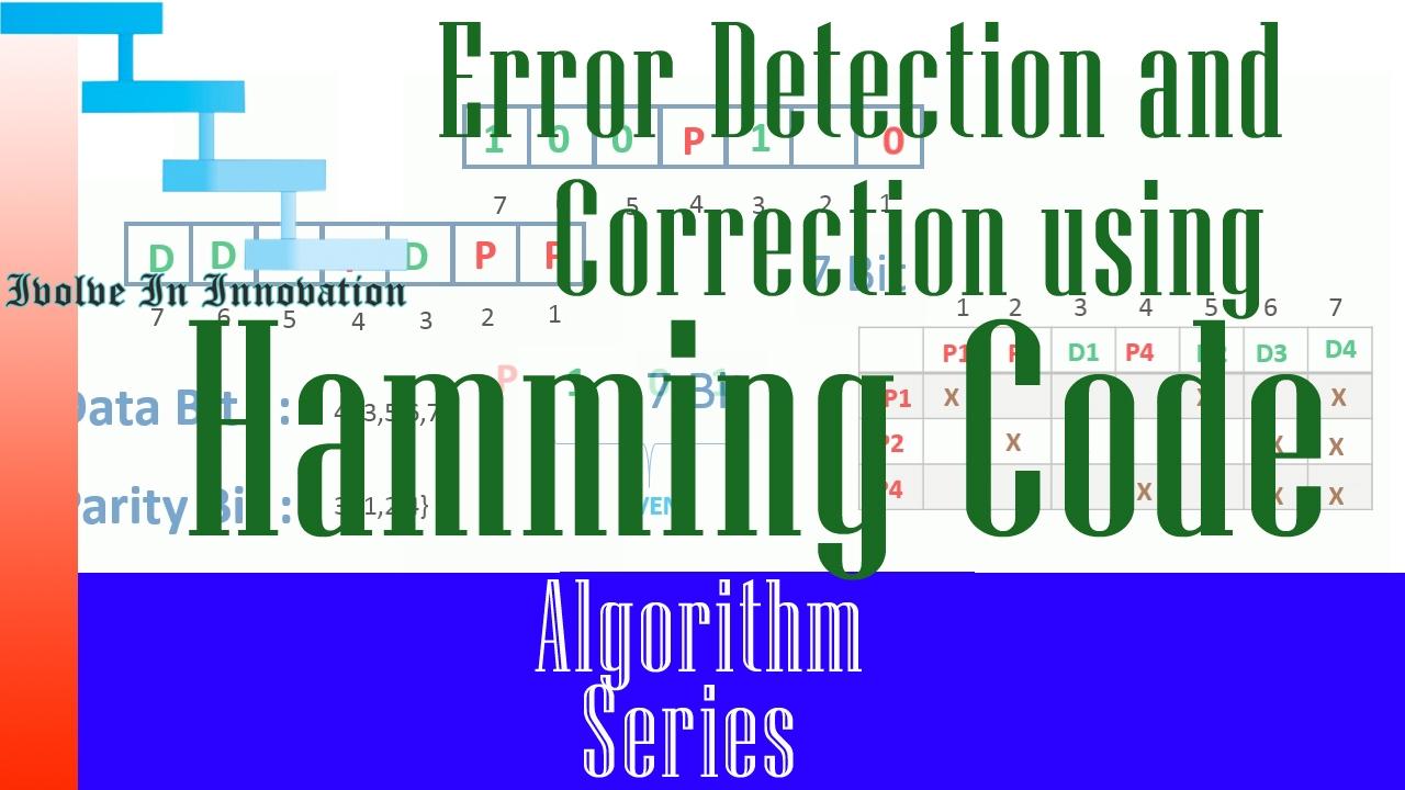 Error Detection and Correction using Hamming code ...