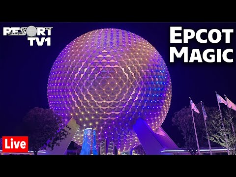 🔴Live: WDW 50th Anniversary at Epcot - Harmonious & Spaceship Earth Magic - Disney World Live Stream