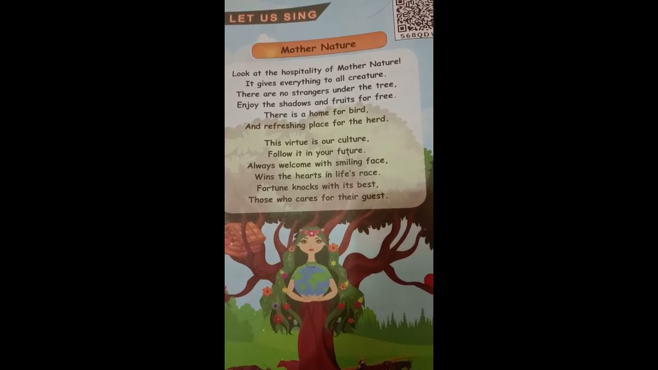Mother Nature English Poem V Th Std New Book