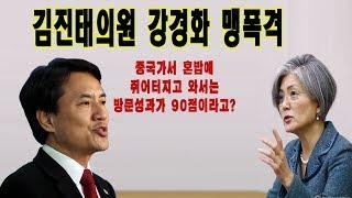 17년12월 22일 열받은 김진태의원 강경화에게 핵폭격