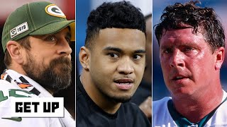 Tua Tagovailoa 'throws better than Aaron Rodgers and Dan Marino,' according to Trent Dilfer | Get Up