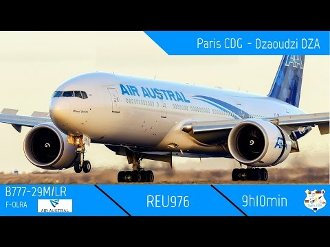 REU976 | Paris CDG - Dzaoudzi DZA | B777-29M/LR Air Austral