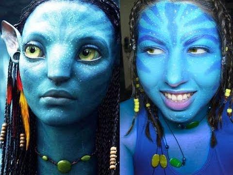 HALLOWEEN Maquillaje de AVATAR NEYTIRI make up YouTube