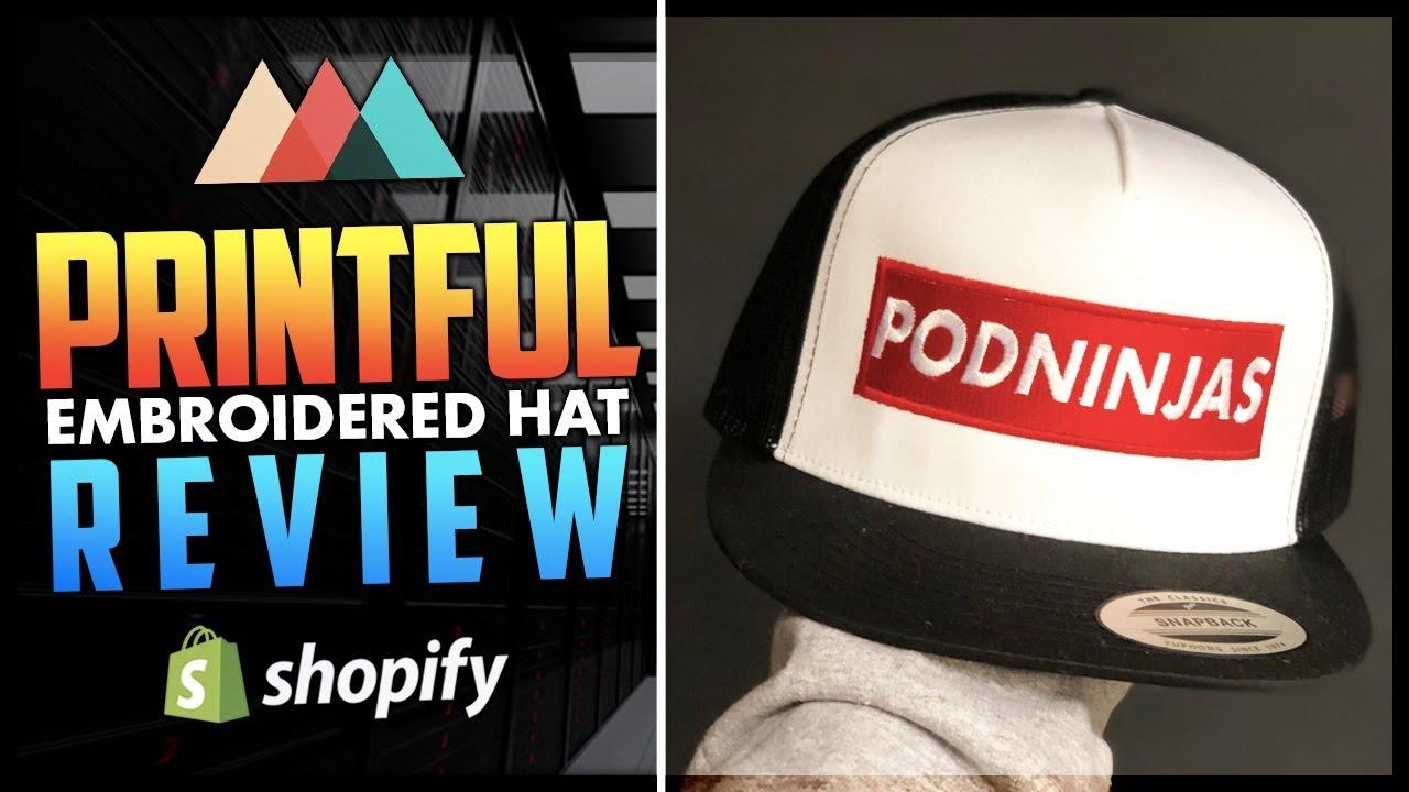 2e118d79e Printful Embroidered Hats Review | Shopify Print On Demand Product Reviews  | Print On Demand Hats