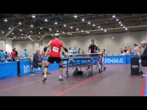 Adoni wins 4 titles at 2013 US Open Table Tennis championships-- some highlights vs Jeff Johnston