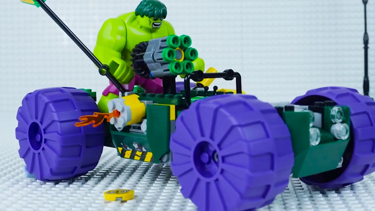 LEGO HULK | LEGO | Hulk VS Detroit Steel | Lego World | Lego Stop Motion | WildBrain Cartoons