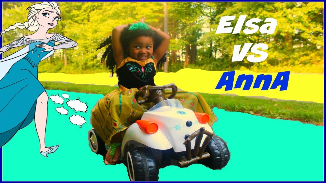 Download Frozen Elsa VS Anna Silly String Fight IRL FROZEN Olaf Quad  KGurlz tv Toy show
