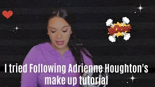 I Tried Following Adrienne Houghton's Makeup Tutorial | theAClife519