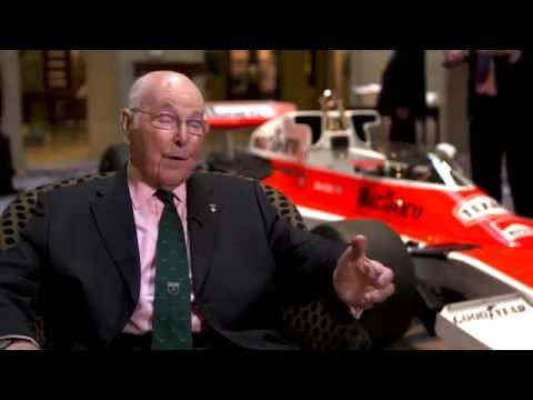 Murray Walker, Freddie Hunt and Tom Hunt on the 40th Anniversary of James Hunt's World Championship