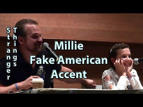 Millie Bobby Brown uses Fake American Accent on Stranger Things w David Harbour Phoenix Comicon