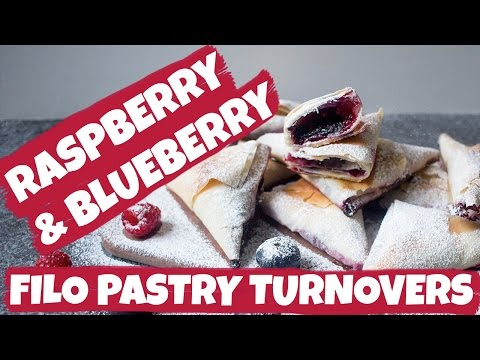Blueberry and Raspberry Filo Pastry Turnovers | Cravings Journal