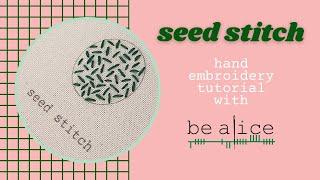 Seed Stitch Tutorial