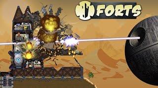 Deathstar Super Laser!  Forts Gameplay Part 1