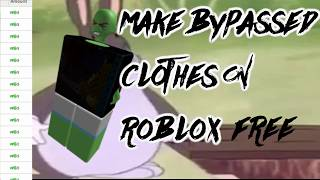 How to Create Bypassed T-Shirts ROBLOX
