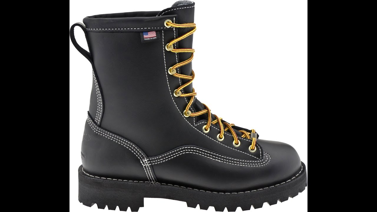 "Super Rain Forest 8"" Black 200G Danner Boots - YouTube"