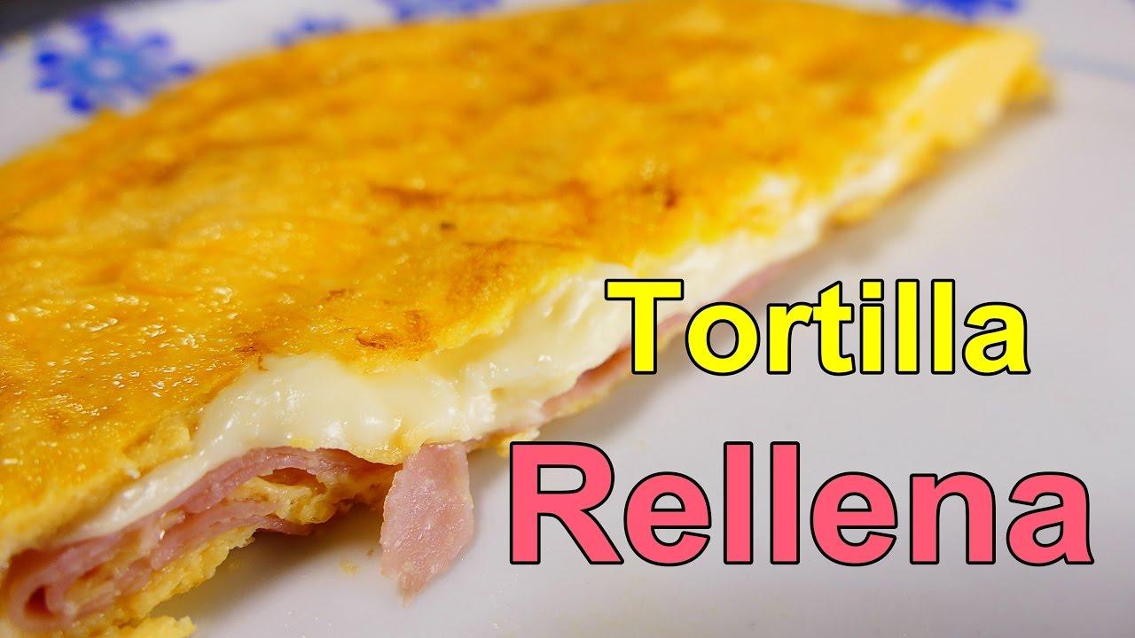 Receta tortilla francesa rellena de jamon y queso for Cocina facil y rapida