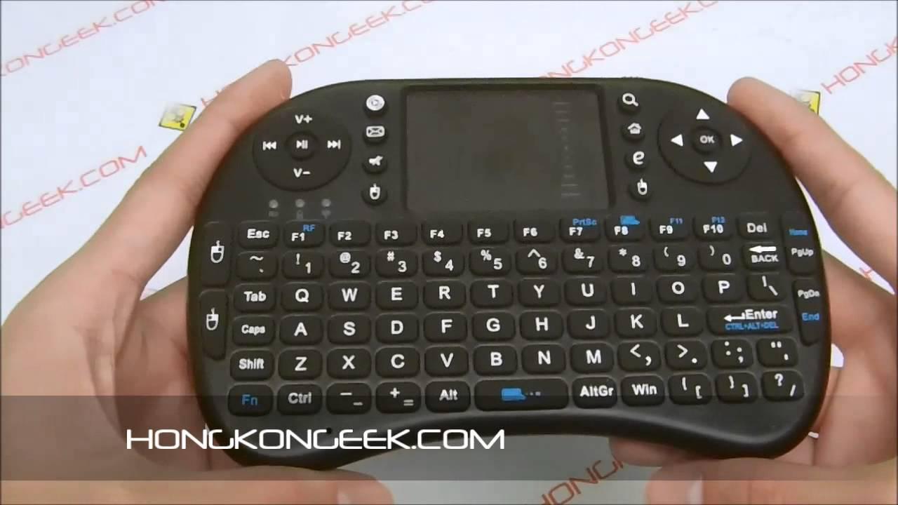 4add600b5c3 - unboxing and test -2.4GHZ WIRELESS KEYBOARD RII MINI I8 - YouTube