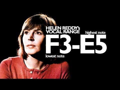 The Vocal Range of Helen Reddy (F3-E5)