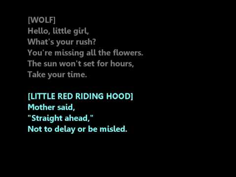 Hello Little Girl (Into the Woods) Male Part Only/ Karaoke