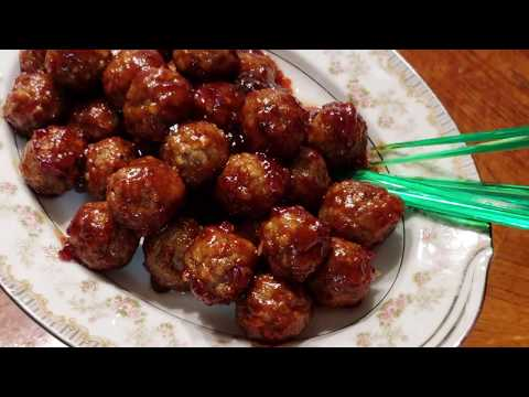 How to make meatballs with grape jelly and ketchup