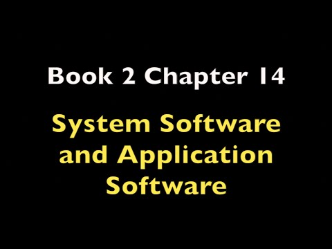 Pre-study Textbook 2 Chapter 14 (System Software and Application Software)