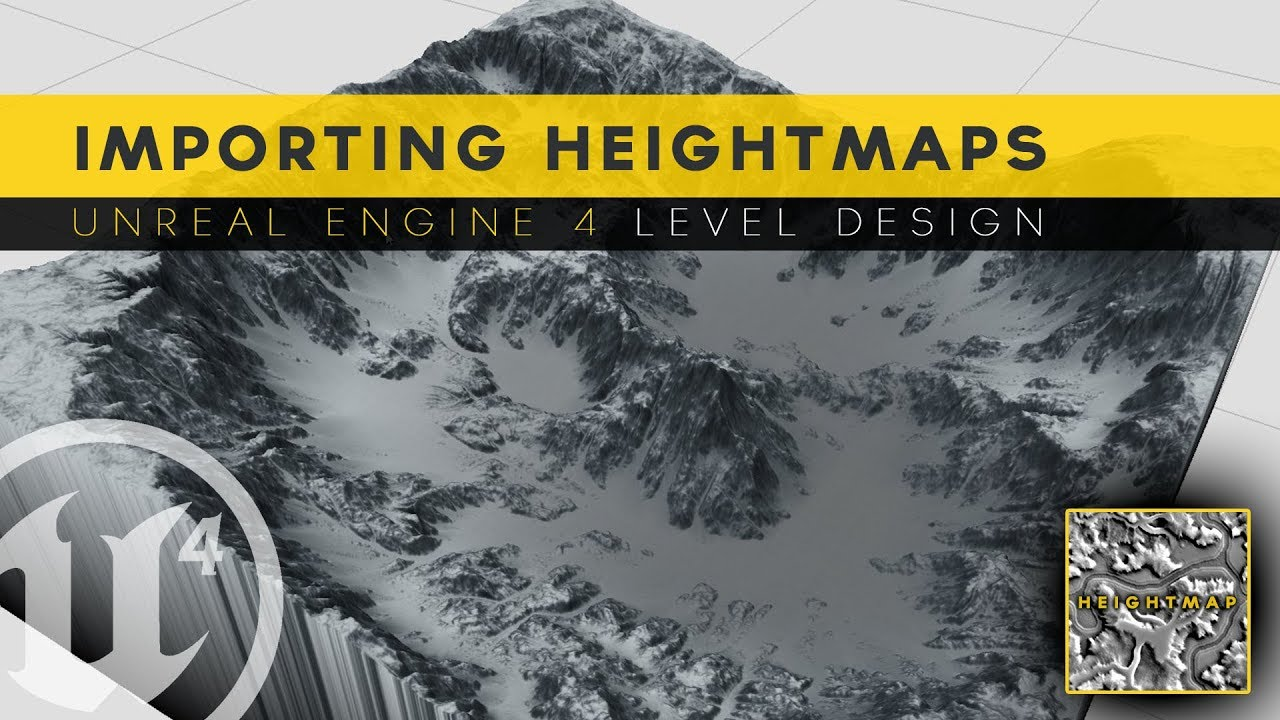 Generating Landscape With Heightmaps 8 Unreal Engine 4 Level Design Tutorial Series Youtube