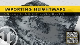 Generating Landscape With Heightmaps - #8 Unreal Engine 4 Level Design Tutorial Series