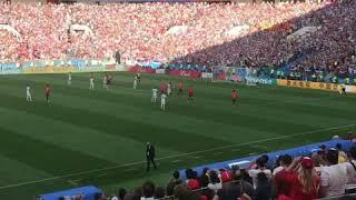 Gol de Dzyuba - Rússia x Espanha - Copa 2018 - oitavas de final - 01/07 filmado da arquibancada