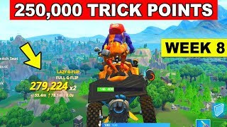 How to Get Trick Points in a vehicle (250,000) Fortnite Week 8 Challenge