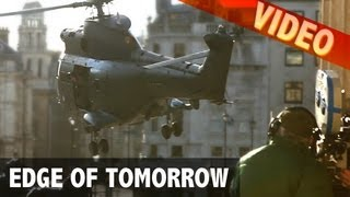 Edge of tomorrow (Exclusive video), Tom Cruise filming helicopter landing, trafalgar square