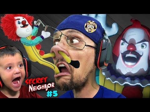 HELLO NEIGHBOR CLOWN's BIG SECRET!  FGTeeV plays SECRET NEIGHBOR #5!!