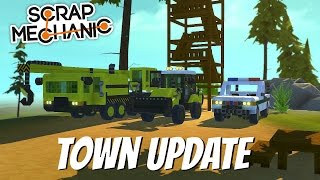 Scrap Mechanic Gameplay- EP 82- More Construction Vehicles & Watchtower