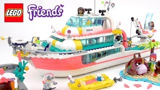 LEGO Friends Rescue Mission Boat (41381) - Toy Unboxing and Speed Build