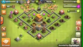 Tuto comment faire une belle base hdv 4 sur clash of clans