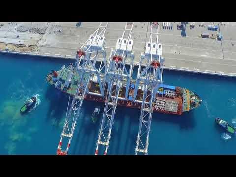 Crane arrival at APM Terminals Med-Port Tangier