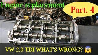 VW SHARAN ENGINE REPLACEMENT wymiana silnika Part. 4