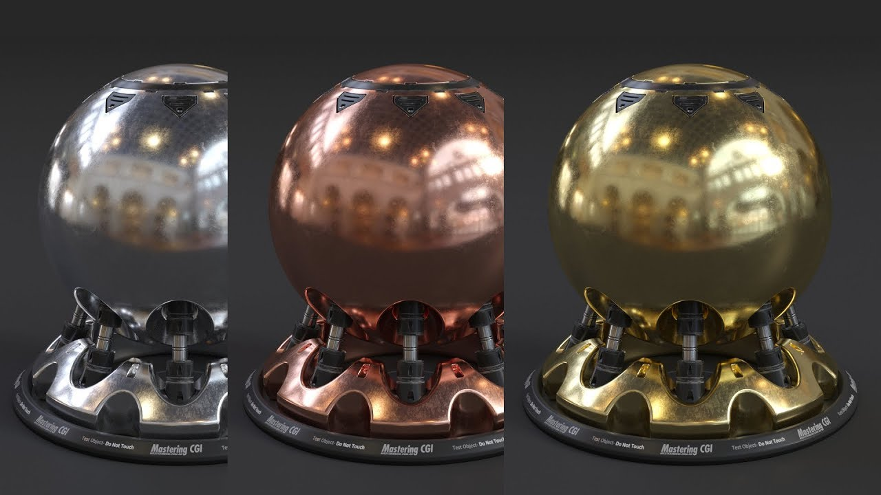 Corona for 3ds Max | How to make Realistic Gold, Copper and Silver Materials