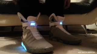 Nike Mag V2 Conversion On Feet - Accurate Modified Version - Mcfly Air Mag 2015