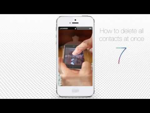 How to Delete All Contacts on iPhone at Once